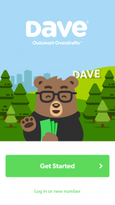 Dave App Get Started Screen